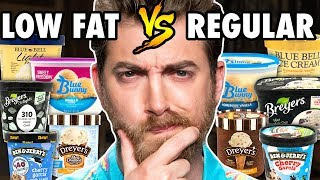 Low Fat vs. Regular Ice Cream Taste Test