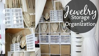 Jewelry Storage & Organization // Closet Tour // Jewelry Collection