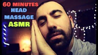 ASMR Tapping & Head Massage on Binaural Mic For Sleep & Relaxation