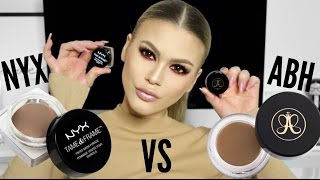 HIGH END VS. DRUGSTORE | ANASTASIA DIPBROW POMADE VS. NYX TAME & FRAME