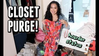 HOARDER DOES A CLOSET PURGE! -  ItsJudysLife Vlogs