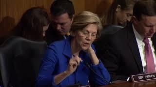 Senator Warren Asks HHS Nominee Alex Azar About Drug Companies Breaking the Law