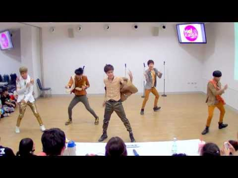 130922 Helious cover SHINee - Lucifer + Dream Girl @Hello! Korea by MBK & iTeen (Audition)