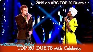 "Jeremiah Lloyd Harmon & Cynthia Erivo ""Time After Time""    American Idol 2019 TOP 20 Celebrity Duets"