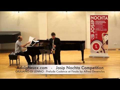 JOSIP NOCHTA COMPETITION GIULIANO DI LENNO Prelude Cadence et Finale by Alfred Desenclos