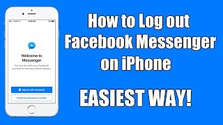 How To Logout Facebook Messenger On IPhone 2016