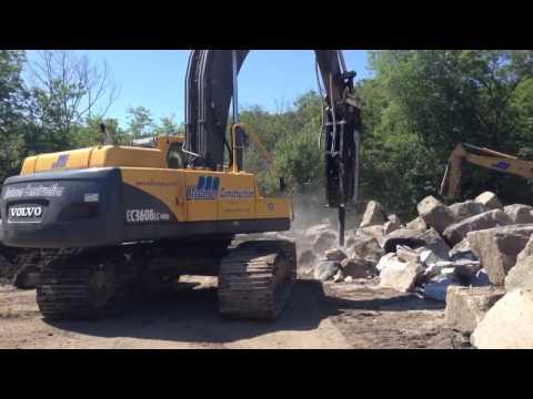 J. Masterson Construction's hydraulic hammer