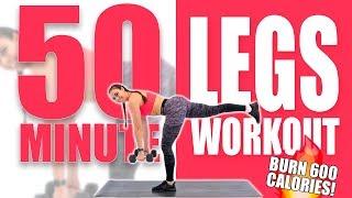 50 Minute Legs Workout 🔥Burn 600 Calories! 🔥Sydney Cummings