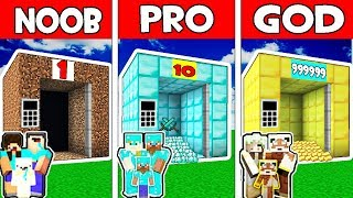 Minecraft - NOOB vs PRO vs GOD : FAMILY ELEVATOR in Minecraft Animation