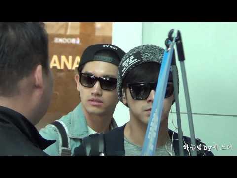 150424 동방신기 TVXQ Yunho & Changmin 인천공항출국