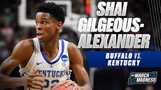 Kentucky's Shai Gilgeous-Alexander was on fire in the Wildcats' win over Buffalo