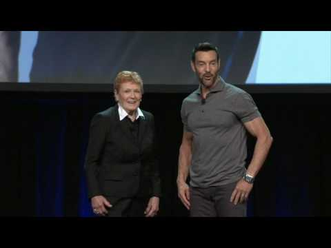 Elaine LaLanne and Tony Horton at the 2016 IDEA World Convention