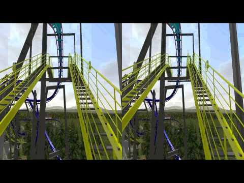3D Rollercoaster: Dragons Mountain (3D for PC/3D phones/3D TVs/Crossed Eyes)