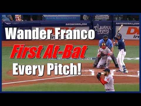 Wander Franco's First At-Bat With The Rays In The Bigs - Every Pitch!