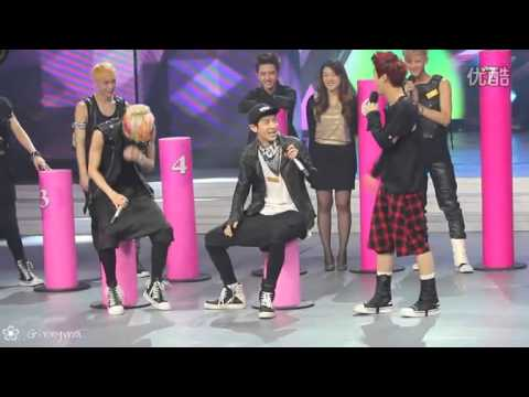 130706 Luhan reaction - who's more attractive? EXO happy camp