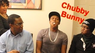 CHUBBY BUNNY CHALLENGE WITH FAMILY
