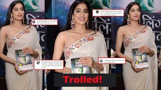 Janhvi Kapoor gets trolled for holding book upside down at..
