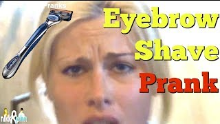 April Fools Eyebrow Shave On Girlfriend