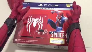 Spiderman Homecoming UNBOXING Limited edition Marvel's Spiderman PS4 PRO bundle