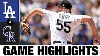 Dodgers vs. Rockies Game Highlights (7/18/21)   MLB Highlights