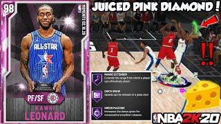 ALL STAR MVP PINK DIAMOND KAWHI LEONARD GAMEPLAY! BETTER THAN EVERY GALAXY OPAL IN NBA 2K20 MYTEAM
