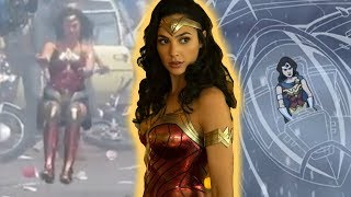 WONDER WOMAN 2 INVISIBLE PLANE SHOWN IM FOOTAGE