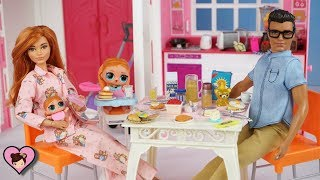 Barbie Doll Family LOL Surprise Baby Morning Routine - Toddler Bedroom and Baby Nursery