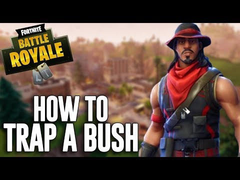 Trapping a Bush! - Fortnite Battle Royale Gameplay - Ninja