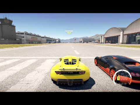 forza 5 full mile drag bugatti veyron ss vs hennessy. Black Bedroom Furniture Sets. Home Design Ideas