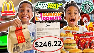 Letting The Person In Front of Us Decide What We Eat for 24 Hours Challenge | The Prince Family