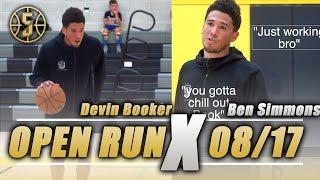 Devin Booker, Ben Simmons ,Trey lyles Destroy Open gym *crazy*