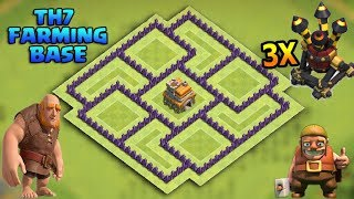 """CoC- """"NEW!"""" BEST TOWN HALL 7 (TH7) FARMING (HYBRID)Best BASE with 3 Air Defenses - Clash of Clans"""