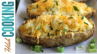 How to Make Twice Baked Potatoes |  Hilah Cooking