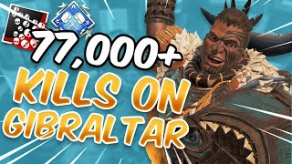 Meet The #1 Gibraltar In Apex Legends With 77,000+ Kills (5k Damage Game)