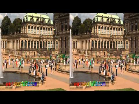 Dresden, Zwinger in 3D by www.3dhochzeitsvideo.de