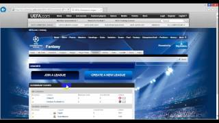 Fantasy Football UEFA   شرح فنتازى دورى أبطال أوروبا