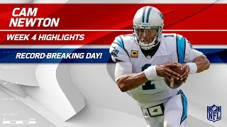 Cam Newton's Record-Breaking Game vs. New England | Panthers vs. Patriots | Wk 4 Player Highlights
