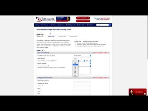 Schumacher Cargo Booking Form Tutorial - Step 1