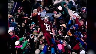 Drew Bledsoe recalls Phillip Bobo's unlikely touchdown catch to seal the Apple Cup win in snowy...
