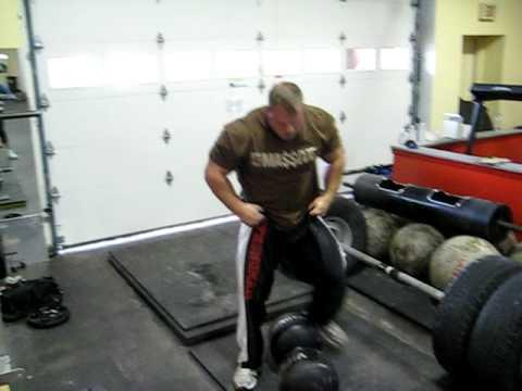 Derek Poundstone 200 lb Circus Dumbbell Clean and Press ...Derek Poundstone Bench