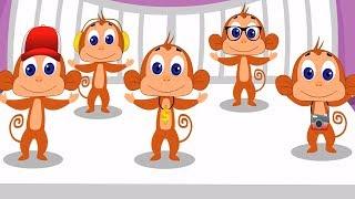 Five Little Monkeys Nursery Rhymes Songs For Kids Children Rhymes For Baby