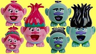 TROLLS RADZ with Poppy, Branch, Guy Diamond  & Biggie Toys