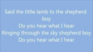 Do You Hear What I Hear - Carrie Underwood (Lyrics)