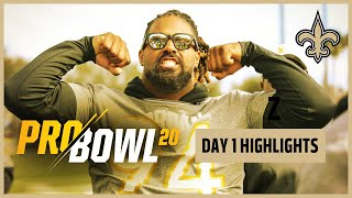 2020 NFL Pro Bowl Day 1 Highlights   New Orleans Saints