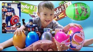 Captain Surprise Eggs Opening – Săn Và Bóc Trứng Đội trưởng ❤ ChiChi ToysReview TV ❤ Đồ Chơi Trẻ Em