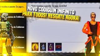RESGATE AGORA!! NOVO CODIGUIN INFINITO PARA TODOS COM ROUPAS DE GRAÇA! FREE FIRE