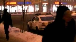 Rīgā policija strādā pastiprinātā režīmā (13janvāris2010)