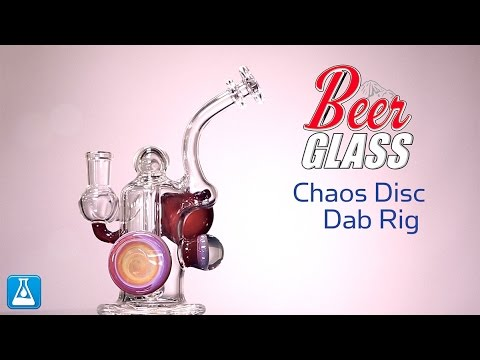 Beer Glass Chaos Disc Dab Rig w/ Drop Down