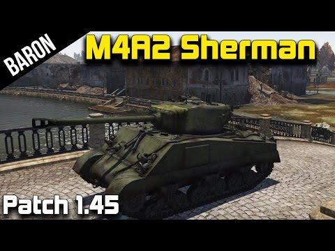 War Thunder Sherman M4A2, Killing Tanks & Planes! (War Thunder 1.45 New Tanks)