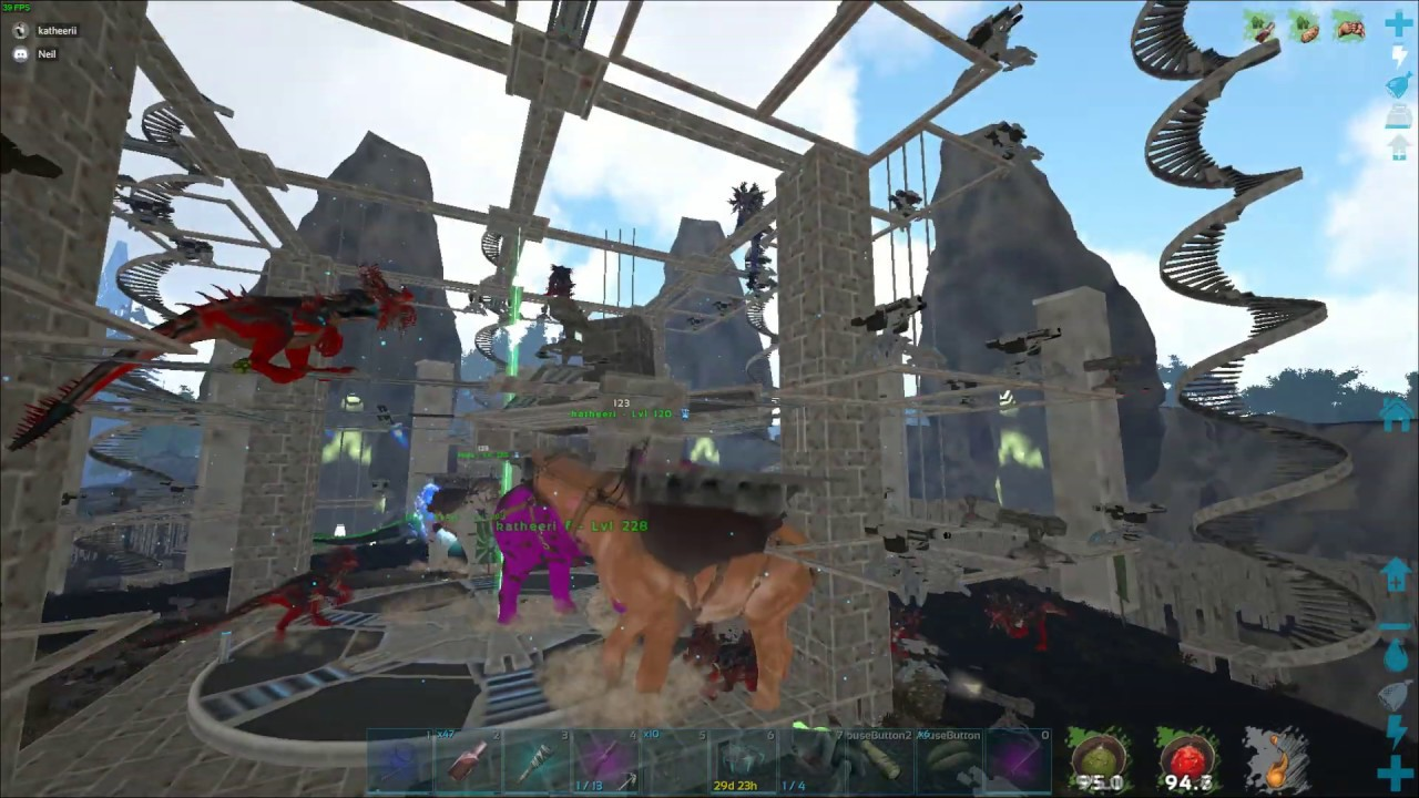 Ark Small Tribes: Raiding + Meatrunning a Underwater Cave   Official PVP